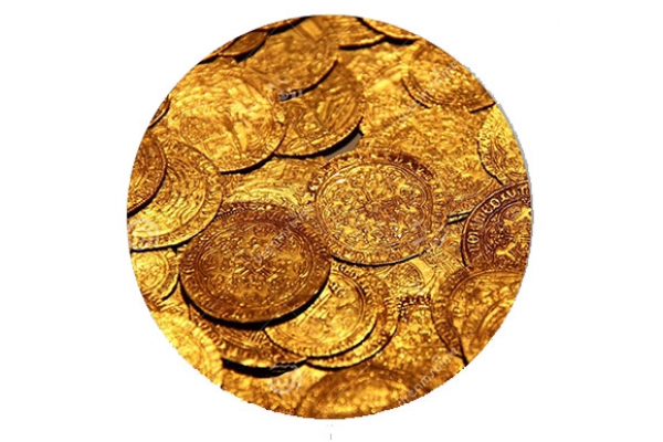 Collect Gold Coins- Black Pearl Replacement Standup Decal Set