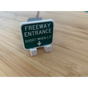 Left Switch Cover Freeway Sign